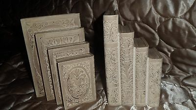 VINTAGE PAIR OF Alabaster BOOKENDS - Signed A. Giannelli 1976