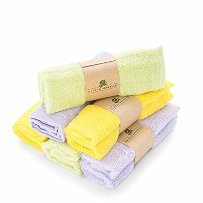 Best Bamboo Baby Washcloths Soft & Hypoallergenic | 6-Pack