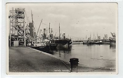 METHIL DOCKS: Fife postcard (C24389)