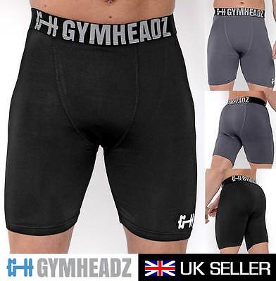 Gymheadz Compression Base Layer Shorts | Mens Gym Shorts Fitted