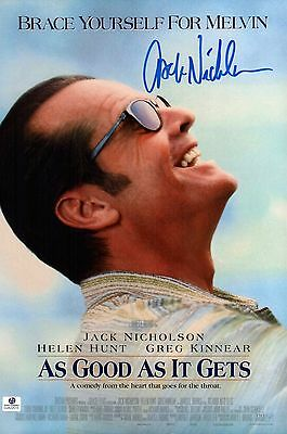 Jack Nicholson Signed As Good As It Gets 10x15 Movie Poster Photo COA