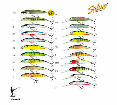 SALMO Minnow Floating 3g. 0.5m.- 1m.  Sinking 5g. 0,8m.-1,5m.VARIETY COLOURS 5cm