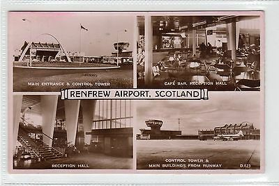 RENFREW AIRPORT: Renfrewshire multiview postcard (C23823)