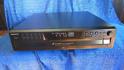SONY CDP-CE375 Compact Disc Player 5-CD Changer Disc Exchange System TESTED