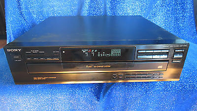 Sony CDP-C365 Compact Disc Multi Player Carousel Changer 5 CD Home Audio TESTED