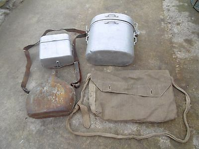 1940'S ORIGINAL Lot French Mess kit Canteen Musette Bag Bouthéon FRANCE