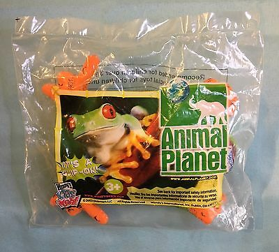 Wendy's Kids' Meal Toy Animal Planet Clip-On Green Tree Frog Plushie 2002
