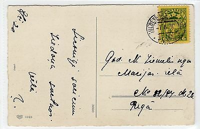 LATVIA: 1930 picture postcard with TPO postmark (C24272)