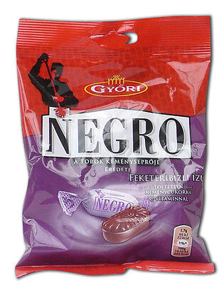 Negro Blackcurrant - traditional Hungarian hard candy blackcurrant taste 79g