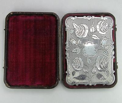 Exceptional Quality Nathaniel Mills Card Case with Original Box. Birmingham 1849