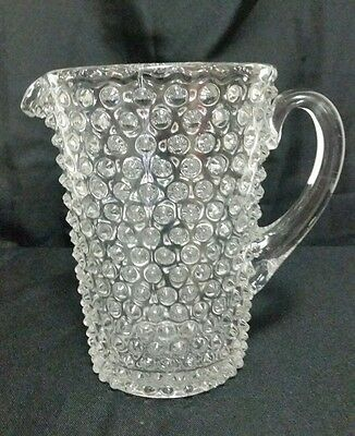 Duncan & Miller HOBNAIL CLEAR (PRESSED) 64 Oz Water Pitcher 8""