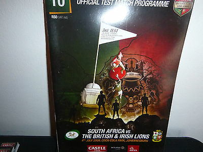 British Lions V South Africa Rugby Programme 3Rd Test 2009