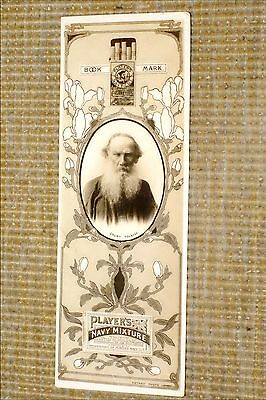 PLAYER'S AUTHORS BOOKMARK [1902] Cigarette Card No. 7 : COUNT TOLSTOY