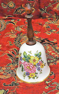 Vintage Hand Painted Porcelain Bell Floral Painting