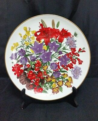 Franklin Mint FLOWERS OF THE YEAR PLATE by Wedgwood  1978 July