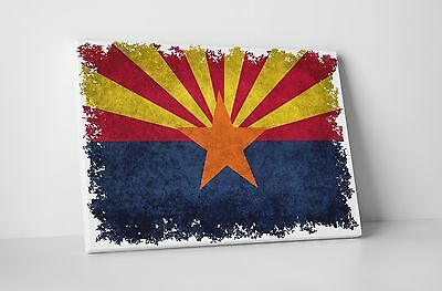 Vintage Arizona State Flag Gallery Wrapped Canvas Wall Art