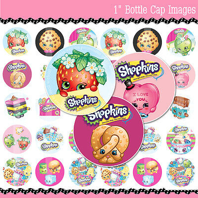 "60 SHOPKINS  - 1"" Precut Bottle Cap Images Buy 2 Get 1 Free of Your Choice"