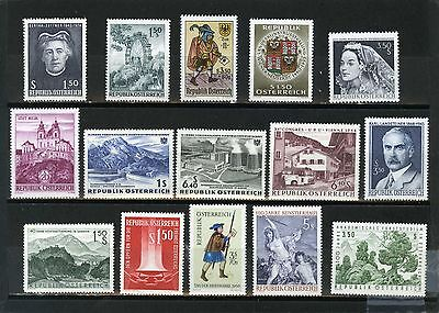 Austria 1960-1969 Small Collection Set Of 15 Stamps Mnh