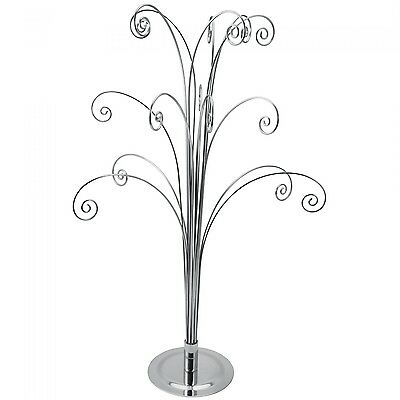 """18"""" SILVER Counter top Ornament Jewelry Display Tree holds 15 items"""