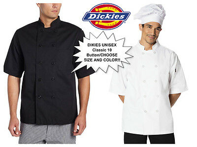 New Dickies DC124 DC49 Chef Donatello Short Sleeve Coat 10 button Unisex Jacket