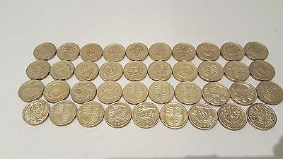 £1 One Pound Rare British Coins, Coin Hunt 1983-2015 Choice Of Dates