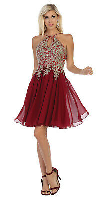 Red Carpet 3/4 Sleeve Prom Dance Evening Gown Special Occasion Formal Long Dress