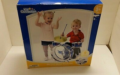 New My First Metal Drum Set Kids Connection 9 Piece Starter Learning