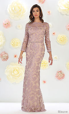 NEW MODERN MOTHER of THE BRIDE GROOM CHURCH FORMAL SEQUINED DRESS PLUS SIZE GOWN