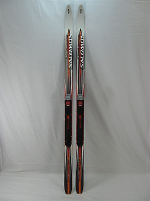 SALOMON CONTAGRIP 53-47-51 SNS PILOT JUNIOR TEAM JR CROSS COUNTRY SKIS 121cm