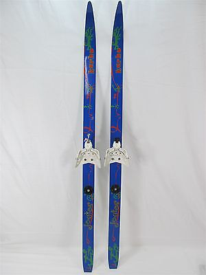 KARHU JESTER JUNIOR CLASSIC CROSS COUNTRY SKIS 110cm 3 HOLE TOE BINDINGS