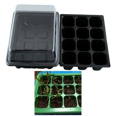 12 Cells Hole Plant Seeds Grow Box Propagation Case Tray Insert Seeding Cloning