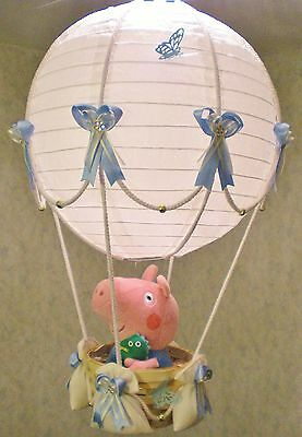 PEPPA PIG GEORGE in hot Air Balloon Lamp-light Shade for Baby Nursery