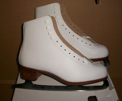 Jackson Artiste Leather Chrome Mark Ii Blade Ladies Size11 Figure Skate