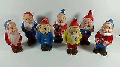 Walt Disney Collectible (Snow White) and the Seven Dwarfs Rubber Figurines 8""