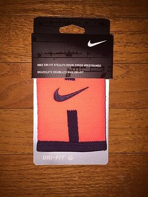 Nike Dri Fit Stealth Double Wide Wristbands