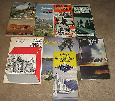 Vintage Lot 8 of Western Prairies Canada Ephemera - Booklets Brochures etc