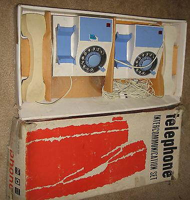 Vintage telephone intercommunication set in box
