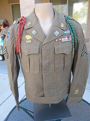 Named WWII US 1st Division, K Company 16th Infantry Ike Jacket w CIB