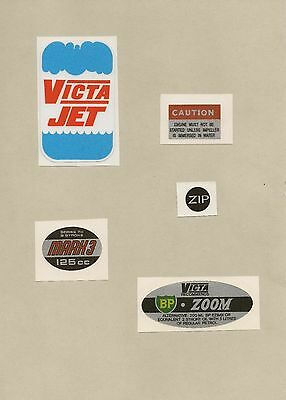 Victa JET Vintage Mower Outboard Motor Repro Decals