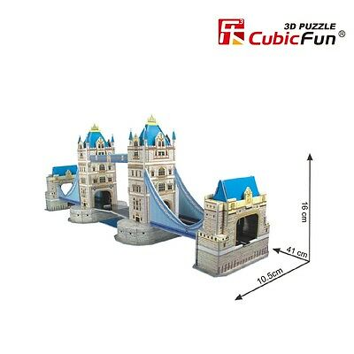 "16"" 3D Puzzle Tower Bridge World's Great Architecture Cubic Happy - New - Sealed"