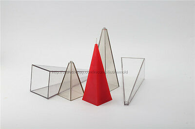 Pyramid Plastic PVC Candle Mold Soap Molds DIY Tools Craft Clay Chocolate