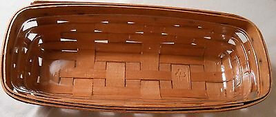 """Vintage small French Bread  Longaberger Basket 11 1/4"""" x 5"""" x 2 3/4""""- 1990 PAG"""