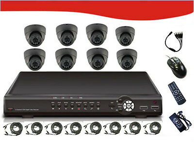 "8* 1/3""SONY CCD 420TV Line cameras & 8CH DVR(1TB HDD INSTALLED)"