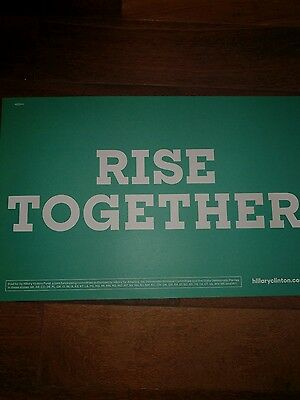 2016 DNC placard RISE TOGETHER