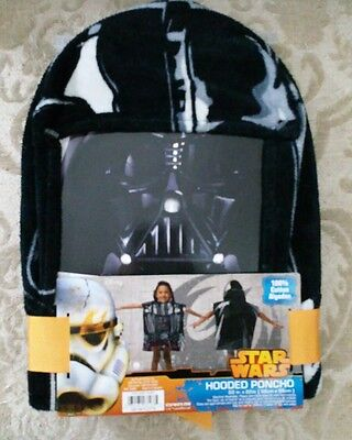 Disney Star Wars Children's Hooded Poncho Terry Cloth New With Tags