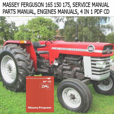 Massey Ferguson 165 Tractor Service Parts Gas Diesel Engine Ops Manuals PDF CD