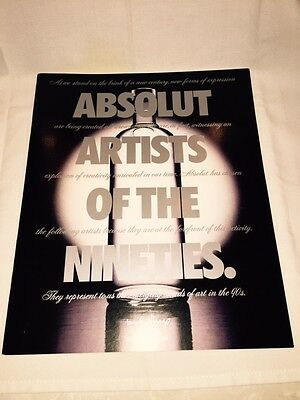 """ABSOLUT VODKA Book """" Artists of The Nineties """" -  Michel Roux Carillon RARE MINT"""