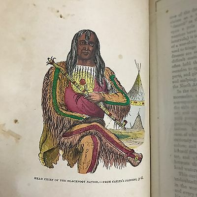 NORTH AMERICAN INDIANS BY GEO. CATLIN, 1859 First Edition, 2 Vols. in 1 book