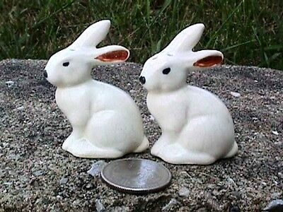Arcadia Small White Rabbit Shakers Vintage-R