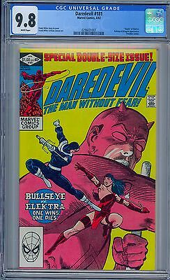 "DAREDEVIL #181 - CGC 9.8 - White Pages NM/MT - ""Death"" of Electra"